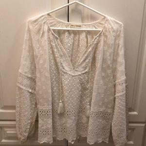 Ulla Johnson cotton eyelet blouse